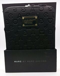 BNWT Marc By Marc Jacobs 3D Script in Classic Black Electronic Tablet Sleeve