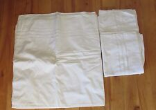 """3 Piece Vintage Pleated Top Sheet and 2 Standard Pillowcases Htf 84"""" X 82"""""""