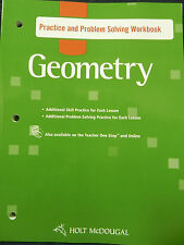 Holt McDougal Geometry : Practice and Problem Solving Workbook Geometry New