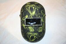 New Custom Honeywell Fibre-Metal 110PWE Pipeliner Welding Helmet/Hood LimeViper