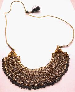 "35"" Adjustable Vintage XL Heavy Statement Necklace Handmade Orange Beads"