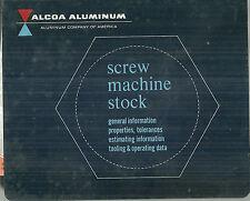 Alcoa Aluminum Screw Machine Book Manual 1961