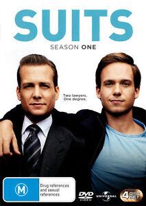 Suits : Season 1 (DVD, 4-Disc Set) NEW