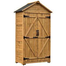 Tool Shed Outdoor Storage Cabinet Backyard Garden Wooden Organizer 1000