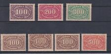 1922 Ziffernzeichnung im Oval mit Farbänderung Postfrisch ** MNH 219 - 223