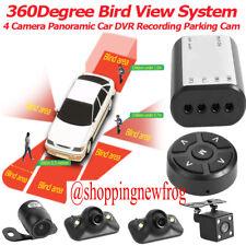 360° Bird View System 4 Len Cam Panoramic Car DVR Recording Parking View Camera