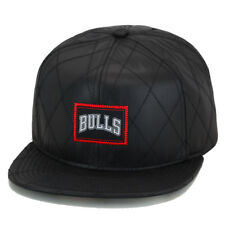 Mitchell & Ness Chicago Bulls Snapback Hat Cap Black Quilted