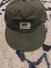 VANS OFF THE WALL Olive Green Snapback Cap Hat Adjustable One Size Fits All