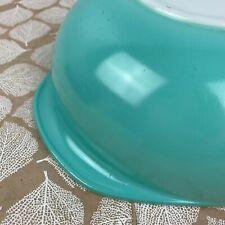 Vintage Pyrex Turquoise Blue 024 Round Casserole Baking Dish 2 qt