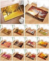 Beautiful Autumn Tree Leaves Non Slip Rug Carpet Bathmat Door Mat 16*24 Inch