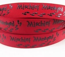 """BTY 7/8"""" Red Harry Potter Mischief Managed Grosgrain Ribbon Hair Bows Lisa"""