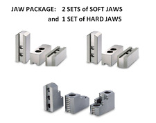 "JAW $$$ SAVER PKG - 10"" CHUCKS -2 Sets Soft & 1 Set Hard 1.5x 60 Serrated Jaws"