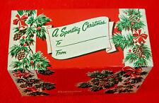 Original Unused Nos Vintage 1950s Remington Christmas 22 L.R. Box Gift Sleeve