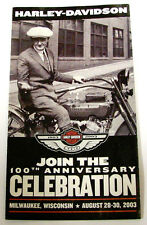 HARLEY 100TH ANNIVERSARY CELEBRATION 2003 REUNION BROCHURE MILWAUKEE WI