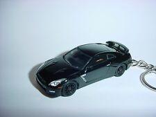 NEW 3D BLACK 2015 NISSAN SKYLINE GTR R35 CUSTOM KEYCHAIN FAST nismo FOB gt-r