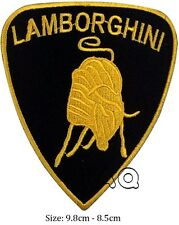 Lamborghini racing biker car gold embroidered iron on patch badge motor # M09