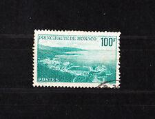 MONACO     100f   bleu vert  vue de la principauté   num: 509   oblitéré