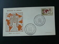 food agriculture against hunger FAO geography map FDC Dahomey 1963