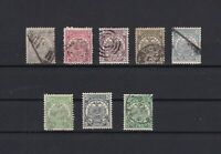 transvaal mounted mint & used stamps with used 5 pound stamp  ref r11043