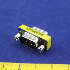 RS232 Male to Male Gender Changer DB 9 pin Serial Gender Adapter RS232 to COM CY