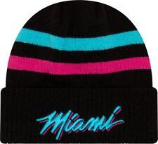 Miami Heat New Era City Series Cuffed Knit NBA Hat - Black