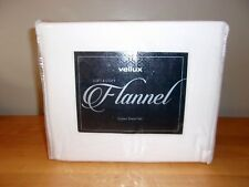 Vellux Soft Cosy Flannel Ivory 4Pc Queen Sheet Set Nip