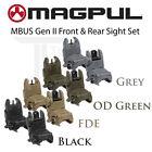 Magpul MBUS Gen 2 Sight Set Front & Rear Sights MAG247 & MAG248 Flip Up BUIS NEW