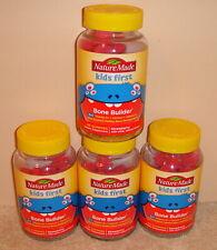 4 Nature Made Kids First Bone Builder Vitamin D Calcium + Vitamin K2 160ct 10/21