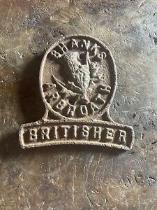 Rare Vintage Shanks Arbroath Britisher Cast Iron Nameplate