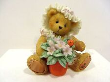 CHERISHED TEDDIES - VIOLET - BLESSINGS BLOOM WHEN YOU ARE NEAR FIGURINE