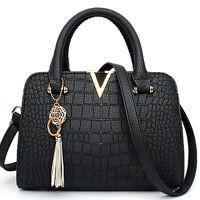 Handbag Satchel Clutch PU Briefcase  Tote Shoulder V Bags Purse for Lady Women
