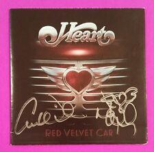 """HEART ANN & NANCY WILSON SIGNED """"RED VELVET CAR"""" CD ALBUM BOOK WITH PHOTO PROOF"""