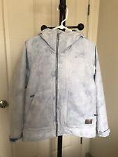 Women's Ladies Burton Snowboards Winter Ski Jacket Coat Size XXS White Blue