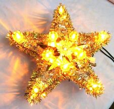 Vintage One Lighted Tree Top Star Christmas Ornament In Original Box-Tree Topper