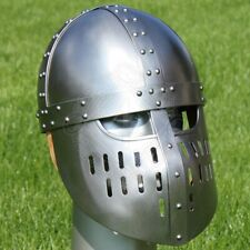18GA Medieval Viking Mask Helmet Nasal Helmet Replica Halloween Costume Q481
