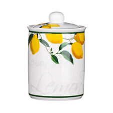 Premier 11x16cm Lemon Tree Print Bone Chine Storage Jar Pot Canister With Lid