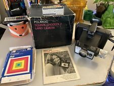 Polaroid Land Camera Square Shooter 2 W/Instructions, Box, And Flash Cubes