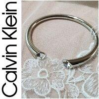 CALVIN KLEIN StainlessSteel Swarovski Crystal BRILLIANT Bracelet Silver NWT $129