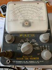Paco Model V 70 Vacuum Tube Voltmeter