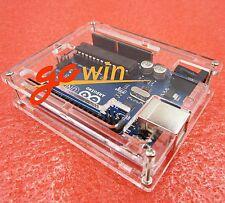 2pcs Clear Acrylic Box Enclosure Transparent Case Shell F Arduino Uno R3 Board