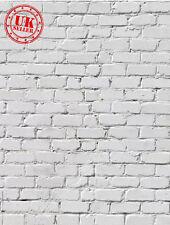 Blanc mur de brique Bébé Enfants Toile de Fond Fond Vinyle Photo Prop 5X7FT 150x220CM