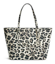 NEW GUESS LEOPARD PRINT DELANEY SMALL CLASSIC TOTE BAG HANDBAG PURSE
