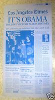 ☆OBAMA 2008 Victory Election Los Angeles LA Times Newspaper Printing Press Plate