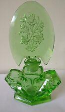 Art deco green glass perfume  scent bottle