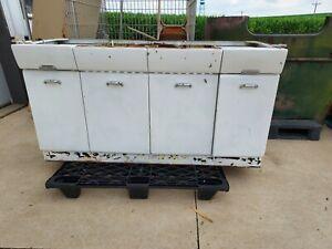 Vintage steel metal Kitchen Cabinets sink Base Avco Crosley drawer door