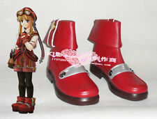 The Legend of Heroes VI Tita Russell Red Halloween Short Cosplay Shoes Boots H01