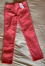 Nwt Crewcuts Corduroy Pants Bright Pink ToothPick Zip Pockets Agjustable Sz10