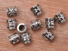 40pcs Tibetan silver hollow  lovely flower bead loose spacer beads 6mm B3141