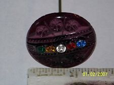 Vintage Antique Hat Pin Reproduction With Rhinestones