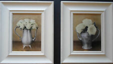 Framed print shabby chic roses floral flowers antique teapot picture frame